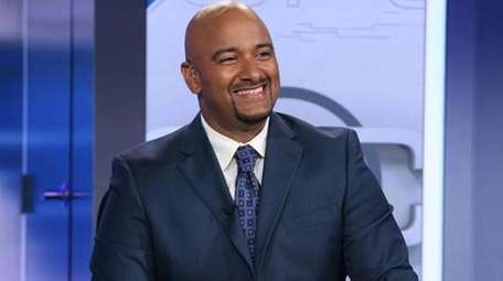 Jonathan Coachman on the set of ESPN's