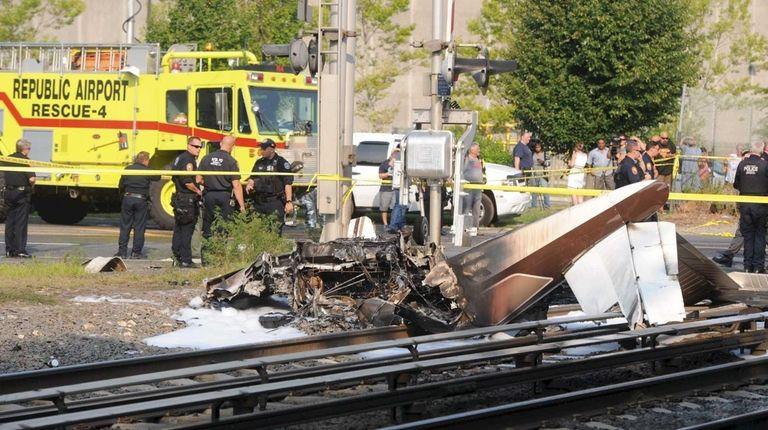 Authorities are investigating the crash Sunday, Aug. 15,
