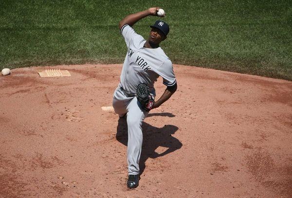 Luis Severino #40 of the New York Yankees