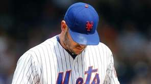 Matt Harvey of the New York Mets stands