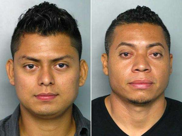 Darwin Barrera, left, 24, of Rockville Centre, and