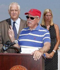 New York State Senator Ken LaValle (center), along