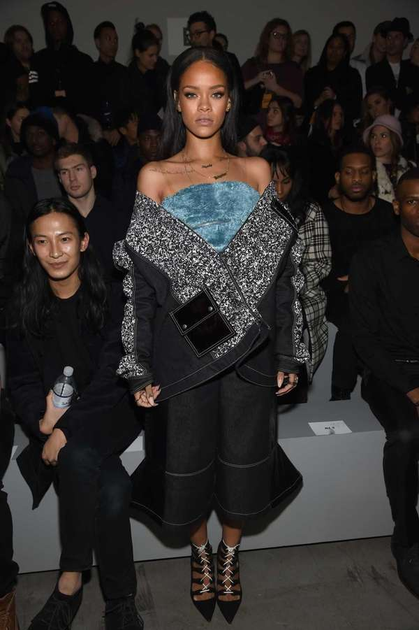 Rihanna attends the Adidas Originals x Kanye West