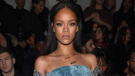 Rihanna attends the Adidas Originals x Kanye West