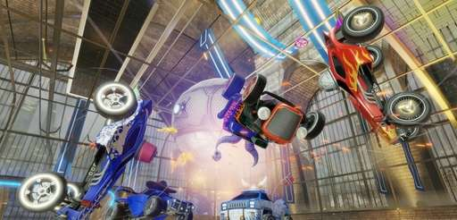 Screengrab from video game : Rocket League (Psyonix)