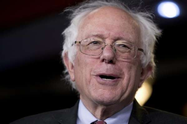 Sen. Bernie Sanders, I-Vt., speaks on Capitol Hill