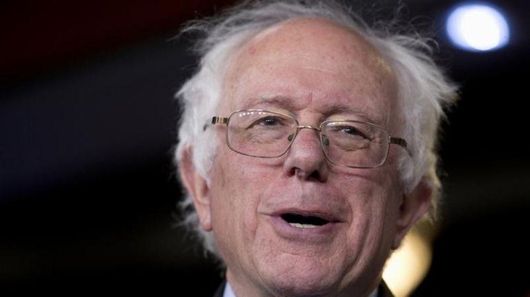 Sen. Bernie Sanders, I-Vt., speaks on Capitol Hill