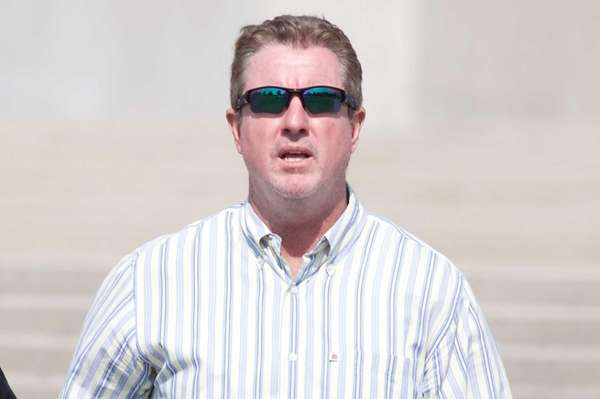 Vincent McCrudden leaves federal court in Central Islip,