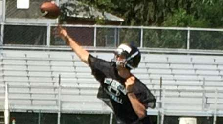 West Hempstead quarterback Ryan Sandberg throws a pass