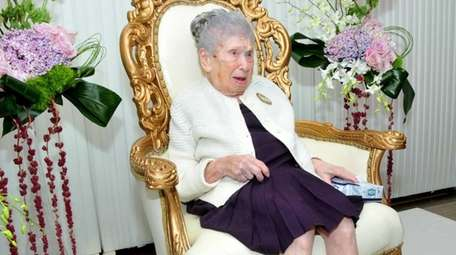 Goldie Steinberg, seen in a file photo celebrating