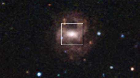 A photo shot from the Chandra Telescope of