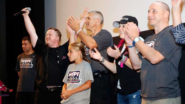 Joe Girardi and Brian Cashman surprised employees of