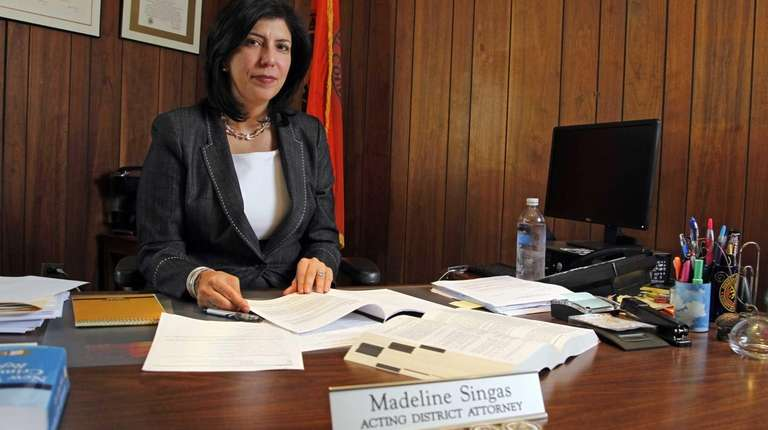 Acting Nassau County District Attorney Madeline Singas in