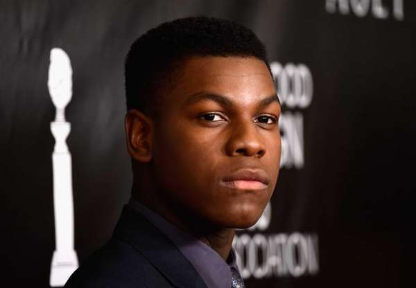 John Boyega arrives at the Hollywood Foreign Press