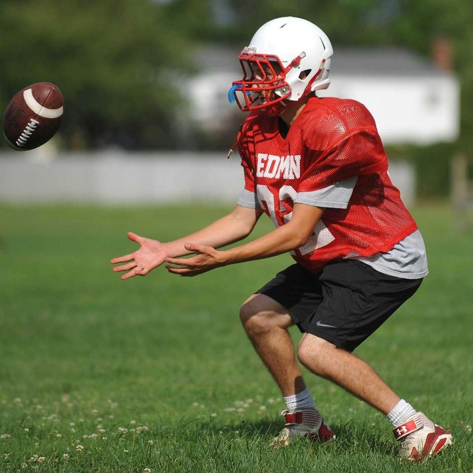 East Islip's Justin Motsiff gets in position to