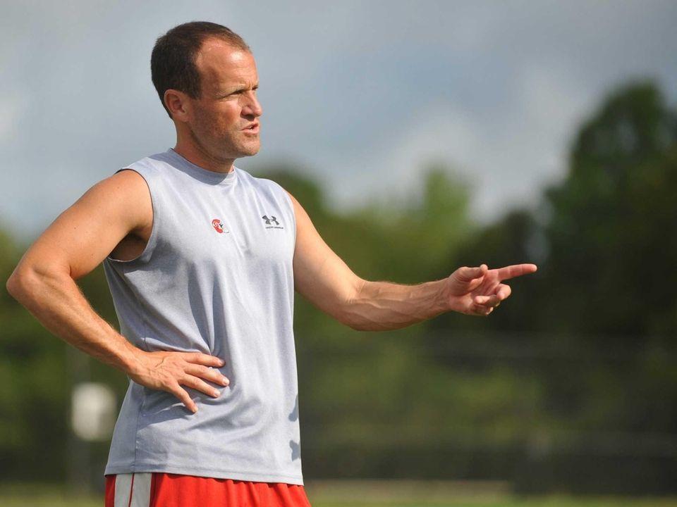 East Islip varsity football head coach Sal Ciampi