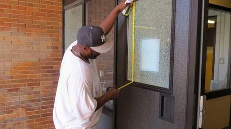 West Elementary School suffered some broken windows and
