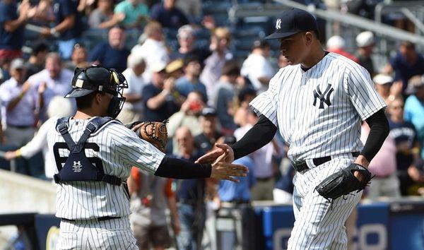 New York Yankees catcher John Ryan Murphy and