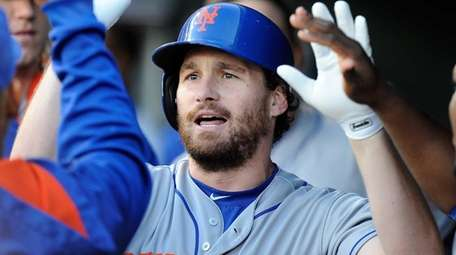 Daniel Murphy of the New York Mets celebrates