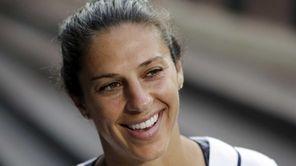 U.S. national women's soccer team's Carli Lloyd smiles