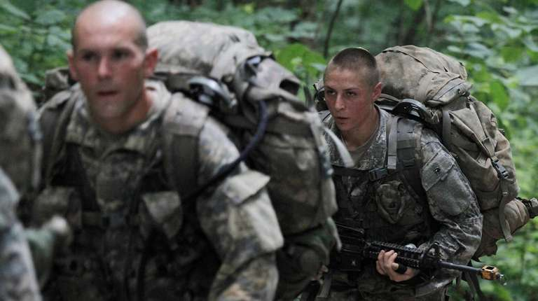 U.S. Army Soldier 1st Lt. Shaye Haver takes