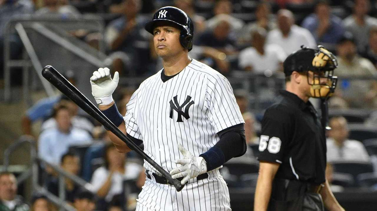 New York Yankees designated hitter Alex Rodriguez walks