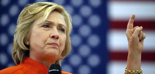 Democratic presidential candidate Hillary Rodham Clinton speaks at