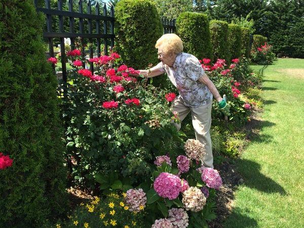 Ellen Woodbury, head of the garden club at