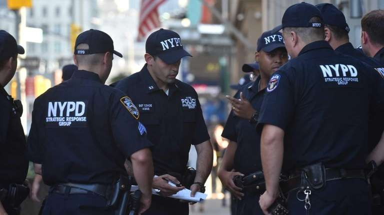 Members of the NYPD respond to a shooting