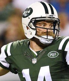 New York Jets quarterback Ryan Fitzpatrick looks to