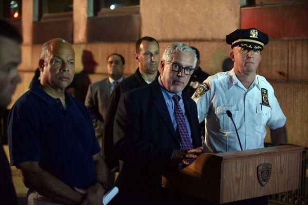Secretary of Homeland Security Jeh Johnson, NYPD Deputy