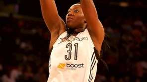 Liberty center Tina Charles hits for two against