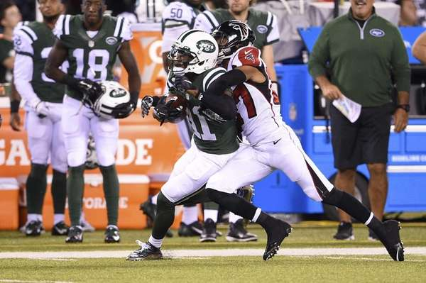 New York Jets wide receiver Jeremy Kerley brings