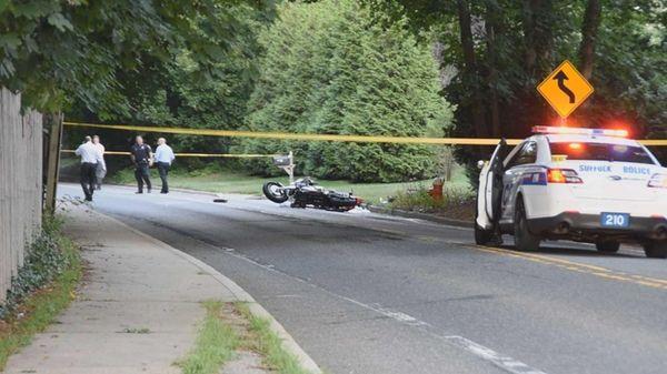 Suffolk County police said a Huntington man suffered