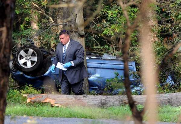 Suffolk County police said a male motorist, driving