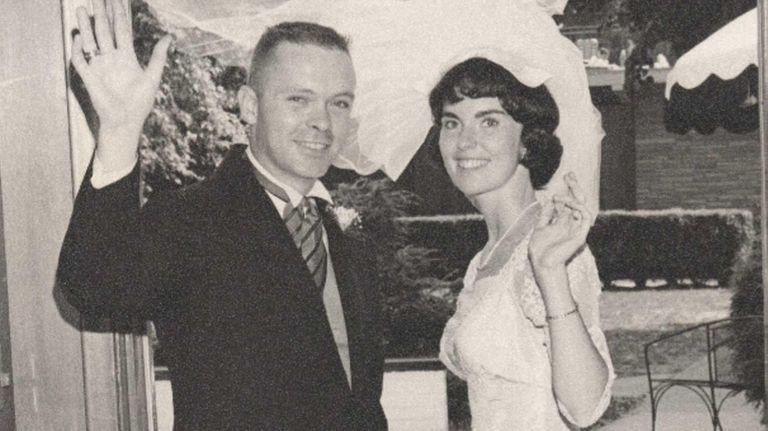Bob and Anne Burke on their wedding day,