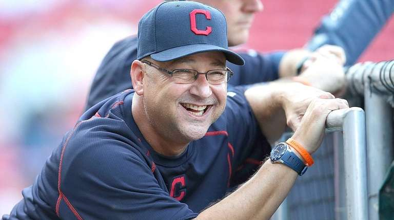 Terry Francona of the Cleveland Indians reacts during