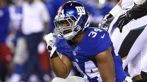 New York Giants running back Shane Vereen celebrates
