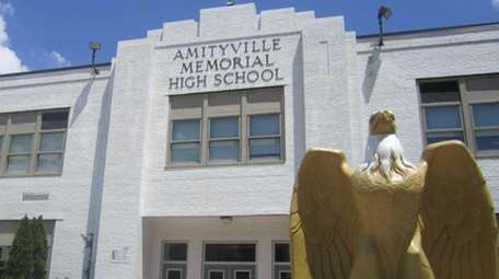 Amityville Memorial High School is shown in this