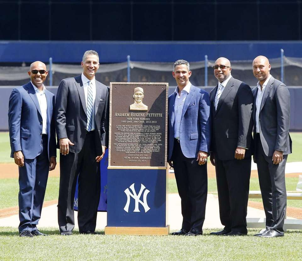 Andy Pettitte poses for a photograph with his