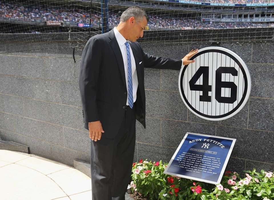 Former pitcher Andy Pettitte of the New York