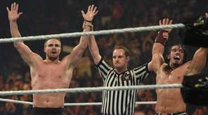 Stephen Amell and Neville are declared the winners