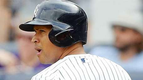 Pinch hitter Alex Rodriguez of the New York