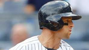 Brett Gardner of the New York Yankees strikes