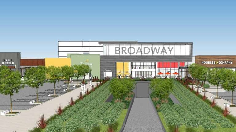 This rendering shows the plans for the Broadway