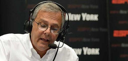 Mike Lupica broadcasting on ESPN New York Radio