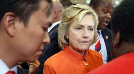 Hillary Clinton, one of the contenders for the