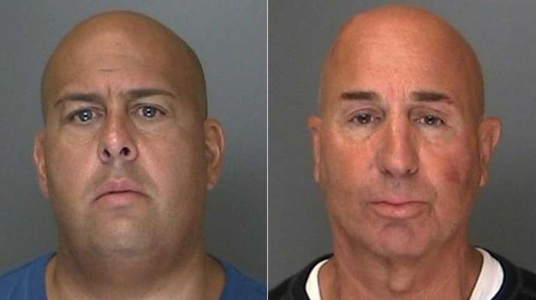 Frank DeJohn, 44, of Yonkers, left, and Salvatore