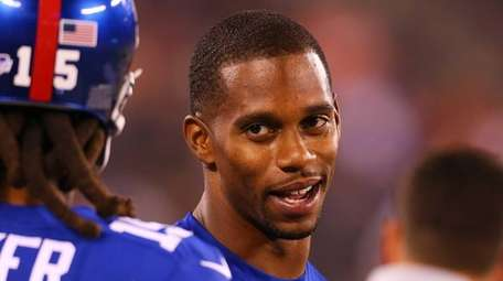 New York Giants wide receiver Victor Cruz (80)