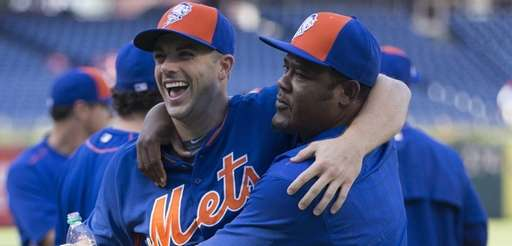 David Wright and Juan Uribe of the New